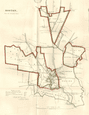 BOSTON town/borough plan for the REFORM ACT. Lincolnshire. DAWSON 1832 old map